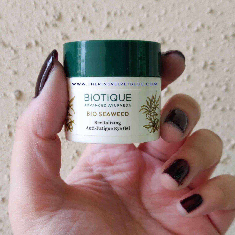 Biotique Bio Seaweed Revitalizing Anti-Fatigue Eye Gel Review