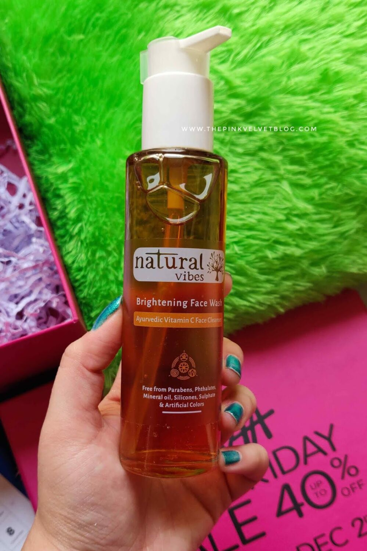 Natural Vibes Brightening Vitamin C Ayurvedic Face Wash Review