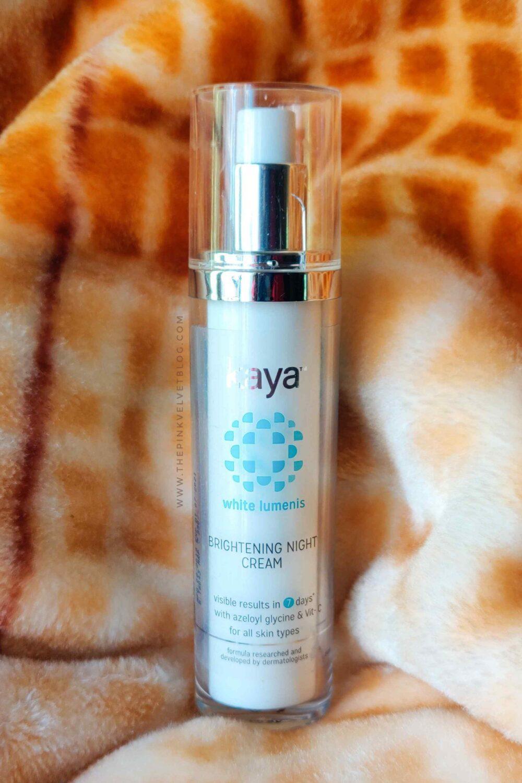 Kaya Brightening Night Cream Review