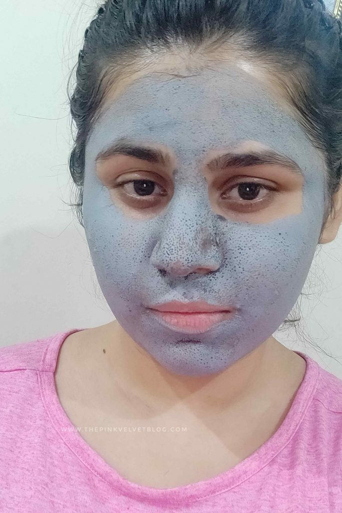 Wearing L'Oreal Pure Clay Mask Detoxify Black
