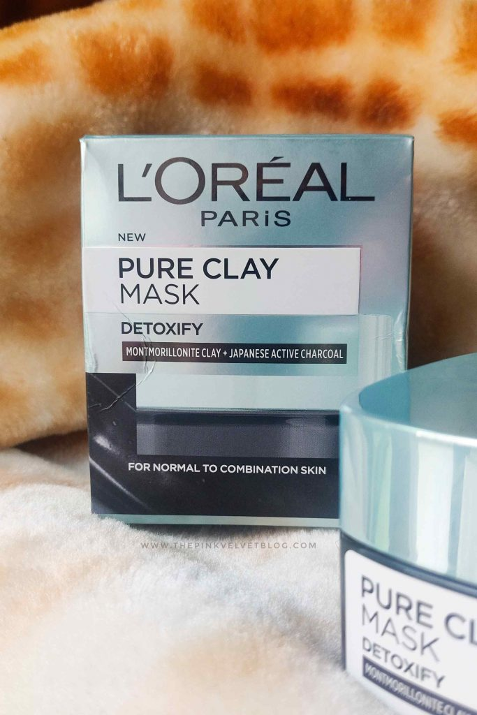 L'Oreal Pure Clay Mask Detoxify Black Review Packaging