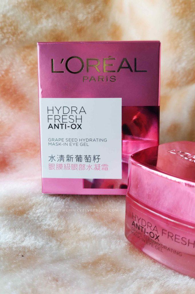 L'Oreal Hydrafresh Anti Ox Grape Seed Hydrating Mask-In Eye Gel Review