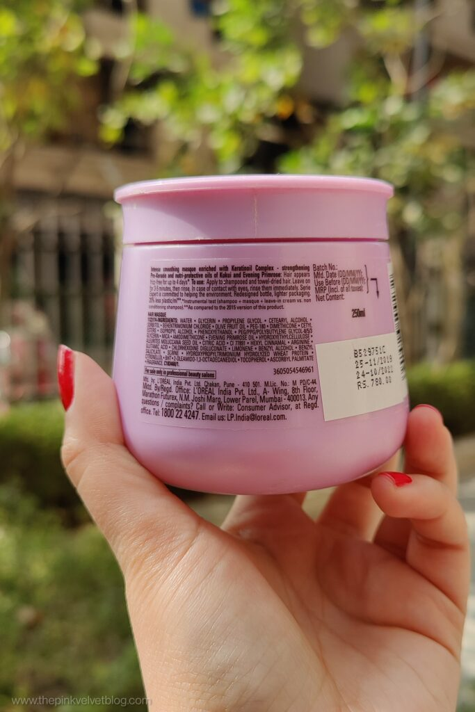 L'Oreal Professional Hair Masque Liss Unlimited Review Ingredients