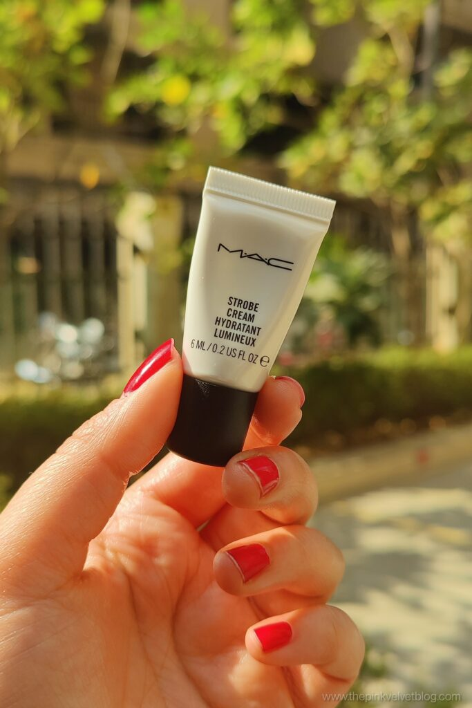 MAC Strobe Cream Hydratant Lumineux Pinklite Review and Swatches